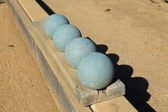 Beautiful bocce balls Stock Photos