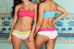 Beautiful bodies of women modeling lingerie Royalty Free Stock Photography