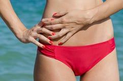 Beautiful Body Girl On Beach Royalty Free Stock Photo