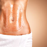 Beautiful body with scrub Royalty Free Stock Images