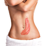 Beautiful body with scrub Royalty Free Stock Image