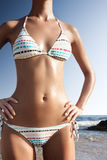 Beautiful body in white bikini Royalty Free Stock Photos