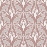 Beautiful bohemian arabesque seamless ornament. Baroque tattoo style pattern. Vintage ornate vector wallpaper stock illustration