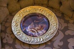 Beautiful bohemian plate Stock Photo