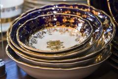 Beautiful bohemian plates Stock Photos
