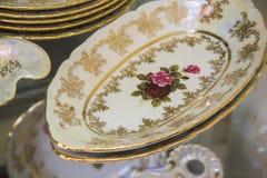 Beautiful bohemian plates Royalty Free Stock Photography