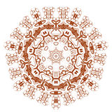 Beautiful Boho Mandala Stock Photography