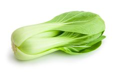 Beautiful Bok choy isolated on white Royalty Free Stock Photo