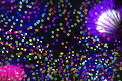 Beautiful Bokeh at amusement park blur background. Royalty Free Stock Photography