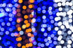 Beautiful bokeh. Background light from the lamp in festivals Royalty Free Stock Photography