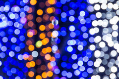 Beautiful bokeh. Background light from the lamp in festivals Royalty Free Stock Photo