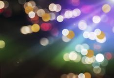 Beautiful Bokeh Background on Party Night. Stock Photo