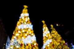 Bokeh of Christmas tree stock image