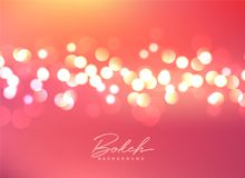 Beautiful bokeh lights festive background. Illustration Royalty Free Stock Image