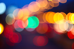 Beautiful bokeh lights Stock Photography