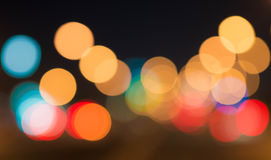 Beautiful bokeh nightlife much more Stock Photography