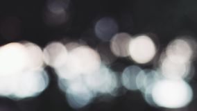 Moving bokeh. Beautiful bokeh shimmering in the distance stock footage
