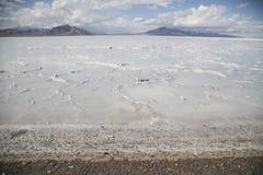 Beautiful bonneville Salt Flats after a summer rain storm Royalty Free Stock Images