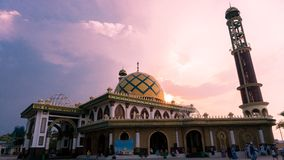 Beautiful Mosque - Sunset stock images
