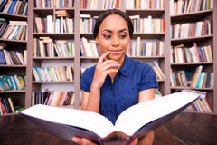 Beautiful bookworm. Royalty Free Stock Photography