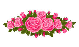 Beautiful border of roses Royalty Free Stock Images