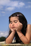 Beautiful Bored Little Girl Stock Image