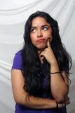 Beautiful Bored Young Latina Royalty Free Stock Image