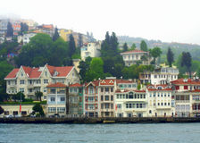 Beautiful Bosphorus houses Royalty Free Stock Photos
