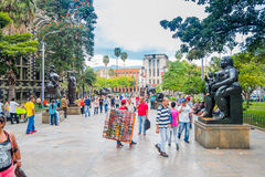 Beautiful Botero Plaza in Medellin city, Colombia Royalty Free Stock Photo