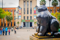Beautiful Botero Plaza in Medellin city, Colombia Royalty Free Stock Photography