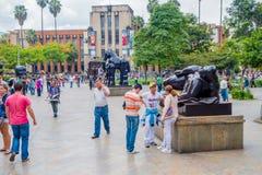 Beautiful Botero Plaza in Medellin city, Colombia Stock Image