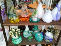 Beautiful bottles and pots Stock Images