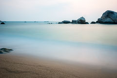 Beautiful boulder in the ocean Royalty Free Stock Photography