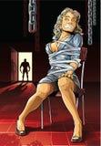 Beautiful bound woman. Stock Image