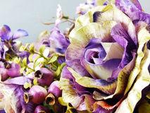 Beautiful bouquet of artificial roses flower background Royalty Free Stock Photo