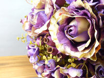 Beautiful bouquet of artificial roses flower Stock Photo