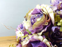 Beautiful bouquet of artificial roses flower Stock Image