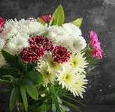 Beautiful Bouquet with asters, chrysanthemums and gerberas royalty free stock photo