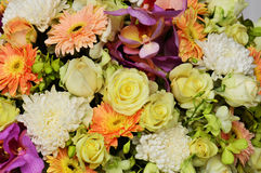 Beautiful bouquet background abstract flowers Royalty Free Stock Photos