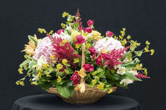 Beautiful bouquet. In a basket Stock Photography