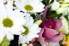 A beautiful bouquet of beautiful variety of flowers stock images