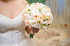 Beautiful Bouquet in Bride's Hand Royalty Free Stock Image