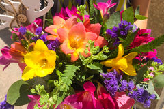 A beautiful bouquet of bright flowers Stock Photography