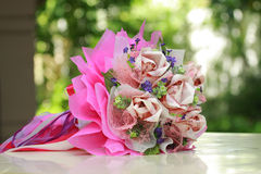 Beautiful bouquet of bright pink flowers Stock Image