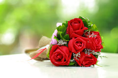 Beautiful bouquet of bright red flowers Stock Photography