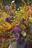 Beautiful bouquet of bright wildflowers Royalty Free Stock Photo