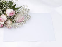 Beautiful bouquet and card Royalty Free Stock Image