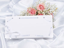 Beautiful bouquet and card for your text Stock Images