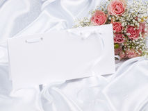 Beautiful bouquet and card for your text Royalty Free Stock Photo