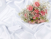 Beautiful bouquet and card for your text Stock Photo